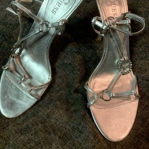 Guess Silver Heels